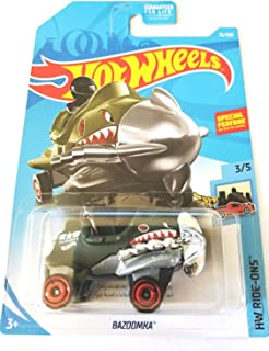 Hot Wheels 2019 HW Ride-Ons Bazoomka (Propellor Plane Car) 15/250, Dark Green Treasure Hunt