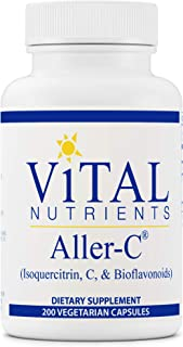 Vital Nutrients - Aller-C (Isoquercitrin, C, and Bioflavonoids) - Respiratory and Sinus Support - 200 Vegetarian Capsules