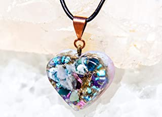 Fairy Crystals Orgonite Necklace/Heart Chakra/Orgone Pendant
