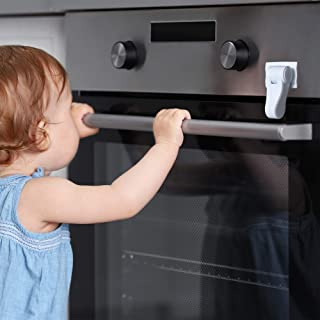 Inaya Oven Lock Child Safety - Child Proof Oven Door Lock - Heat-Resistant Plastic & 3M Tape - Universal Baby Proof Lock for Ovens, Stoves & Microwaves - Easy to Install & No Tools Required(1 Pack)