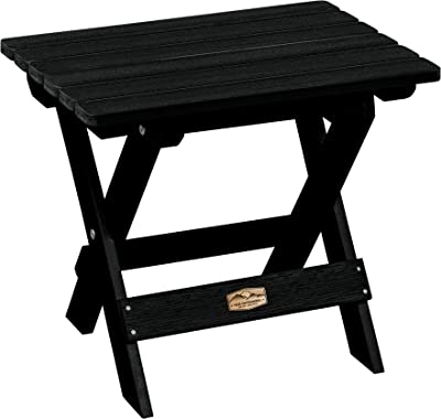 Elk Outdoors EO-TBS1-ABY The Essential Folding Side Table, Abyss