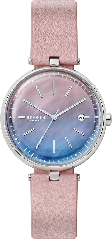 Skagen Women's Karolina Finally popular brand Solar Watch Stainless with Mesh Long Beach Mall Steel St