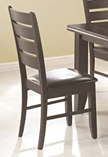 Dalila Slat Back Side Chairs Cappuccino and Black (Set of 2)