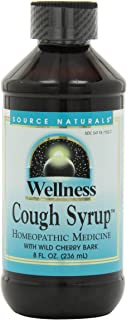 Source Naturals Wellness Cough Syrup with Wild Cherry Bark, Relieves Symptoms of Coughs Due to Colds and Flu, 8 Fluid Ounces
