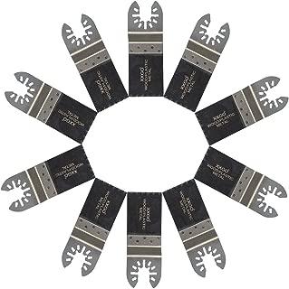 XXGO 10 Pcs Bi Metal Oscillating Multitool Blades Compatible with Bosch, Chicago, Craftsman, Dewalt, Dremel, Fein, Harbor Freight, Makita, Milwaukee, Porter Cable, Ridgid, Ryobi, Rockwell and More