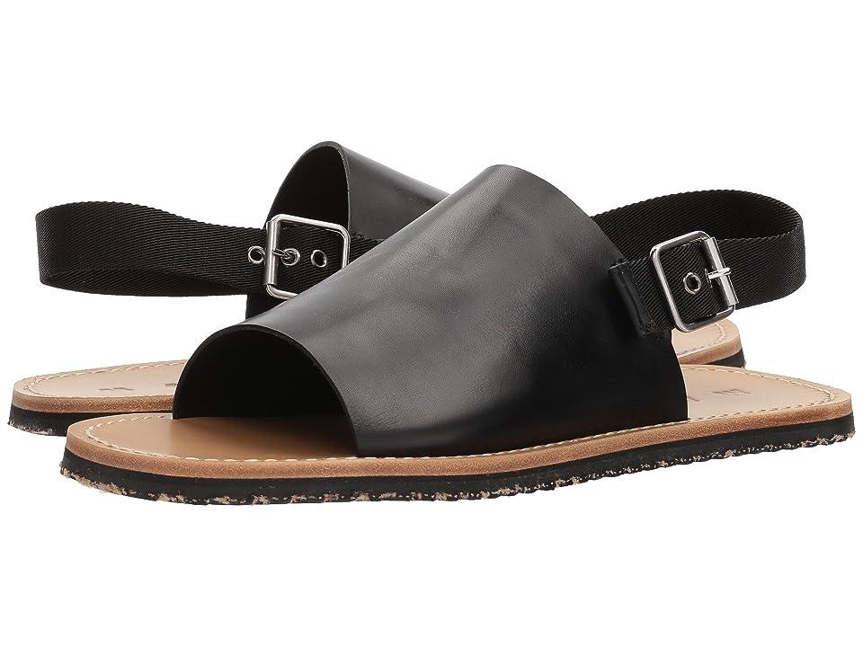 MARNI Ankle Strap Sandal (Black/Black) Men