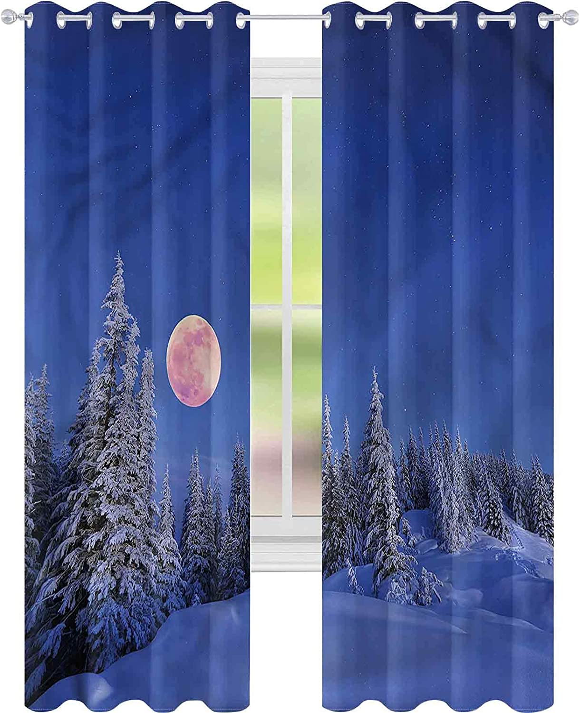 Window Curtain Drape Winter Full Special sale item Sacramento Mall Moon W42 Idyllic x L84 Habitat