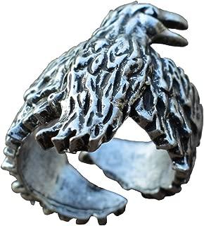 Raven Ring in Norse Style Viking Mens Scandinavian Pagan Crow Ring