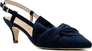 9b56448c0e583 Greatonu Women Shoes Bow Tie Kitten Heels Slingback Dress Pumps Court Shoes
