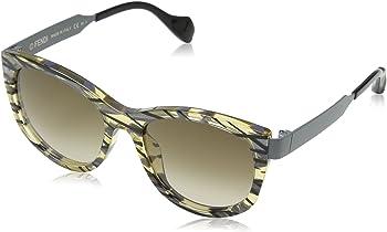 Fendi Sliky Brown Gradient Cat Eye Ladies Sunglasses