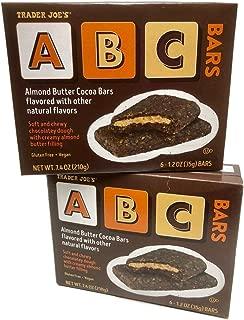 Trader Joe's ABC Almond Butter Cocoa Bars - 2 Box Bundle - 12 Bars