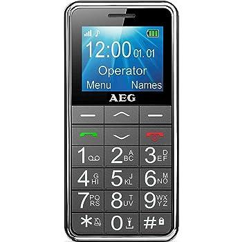 Mobiltelefon   AEG Voxtel M250 Senioren-Handy mit großen Tasten und ohne Vertrag   Mit Notruf-Knopf und Taschenlampe