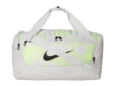 Nike Brasilia Small Duffel Bag 9.0 All Over Print (Photon Dust/Photon Dust/Dark Smoke Grey) Duffel Bags