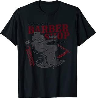 Vintage Classic Barber Shop Funny Gift Idea, Barber T-Shirt