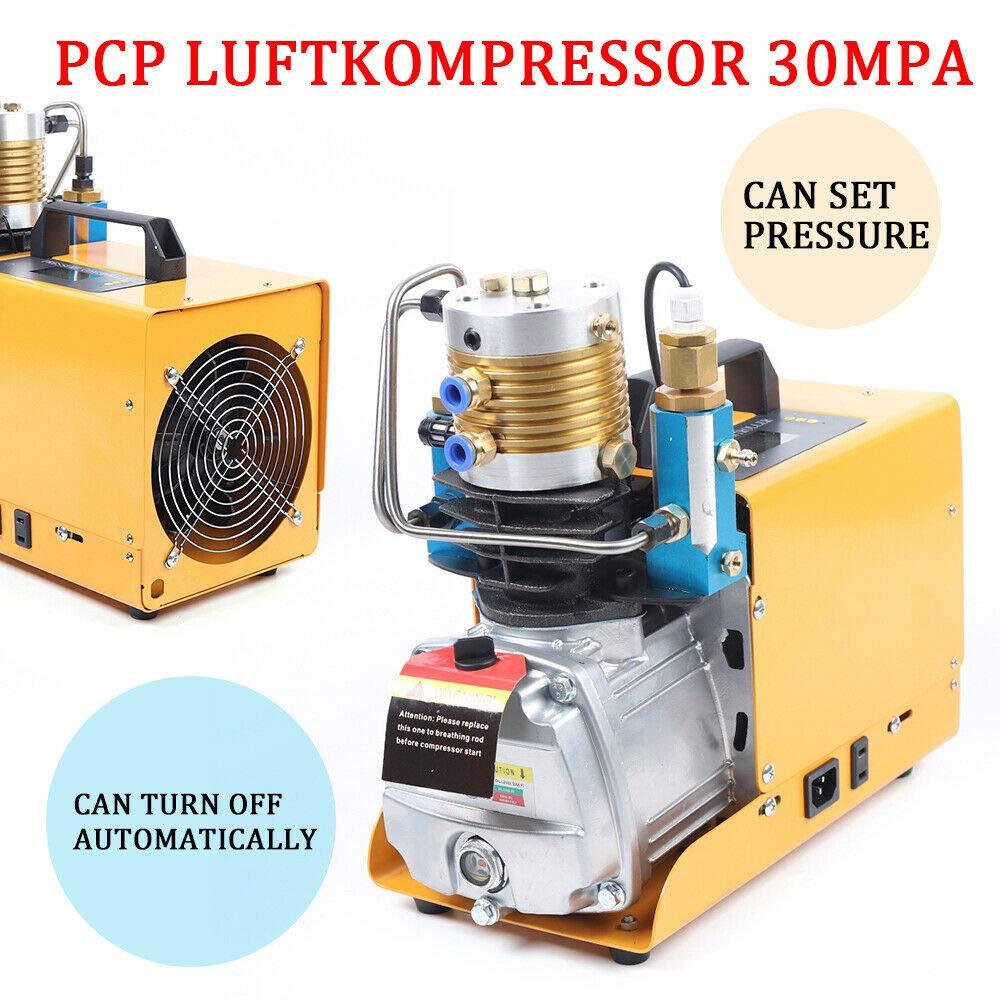 Bomba de aire eléctrica de alta presión, 300 bares, PCP, compresor de aire, set 30 MPa 0 – 6,8L: Amazon.es: Bricolaje y herramientas