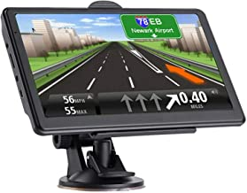 GPS Navigation for car, 7-inch HD GPS Navigation 256-8GB Voice Broadcast Navigation, top-Loading North America map (USA, Canada, Mexico map) Lifetime map Free Update