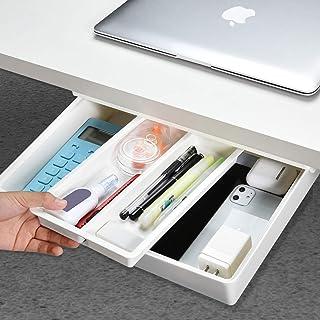Desk Drawer[Large], GGIANTGO Under Desk Storage, Set for Office/Bedroom/Schoolroom/Kitchen, Self-Adhesive Under Desk Drawe...