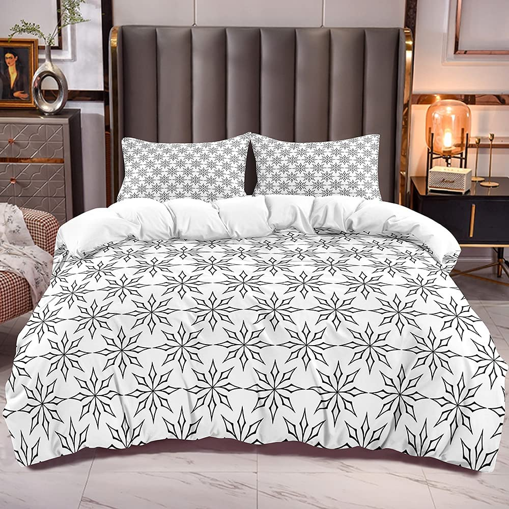Floral Duvet Cover Recommended Twin Size Botanical Popular standard Zipper Closure with Flowe