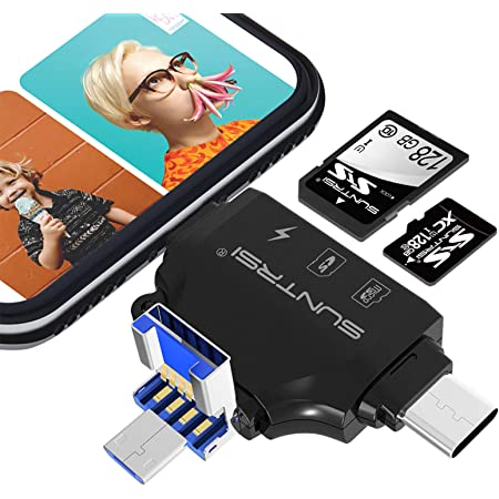 XLHJFDI Card Reader SD//TF//CF Card Three-in-one SLR Camera Reader Can Be Connected to Mobile Phone Android Huawei Type-c Usb3.0 High Speed Computer Dual-use Universal