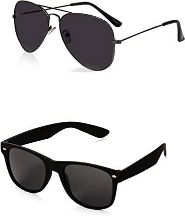 Generic Men's Aviator and Wayfarer Sunglasses(Black)