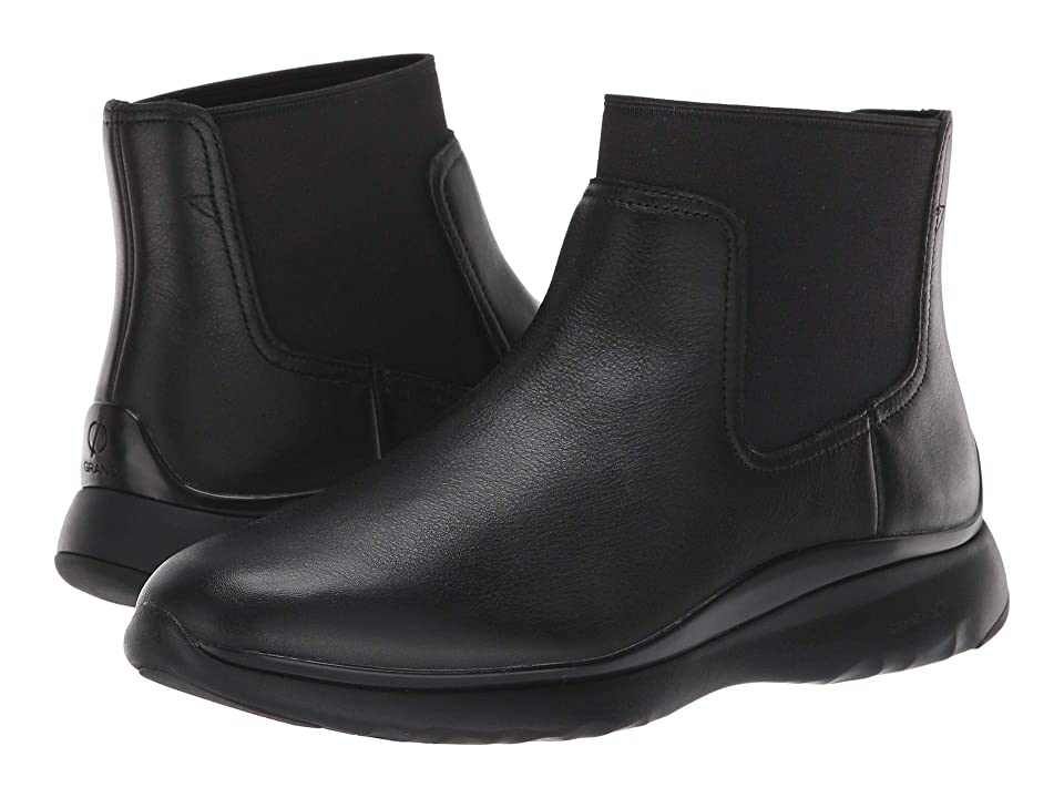 Cole Haan 3.Zerogrand Chelsea Waterproof Bootie (Black Leather) Women