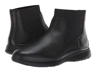 Cole Haan 3.Zerogrand Chelsea Waterproof Bootie (Black Leather) Women