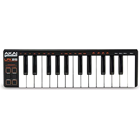 AKAI Professional LPK25 - USB MIDI Keyboard controller with 25 Velocity-Sensitive Synth Action Keys for Laptops (Mac & PC), Editing Software included