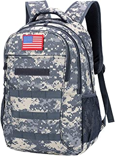 Sponsored Ad - Camo Backpack,Durable School Bag with USB Charging Port,40L Camouflage Tactical Backpack for Boys
