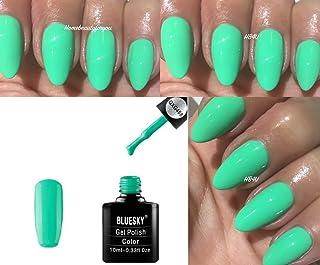 Vernis à ongles gel Bluesky , Couleur vert clair menthe , Séchage sous  lampe UV /