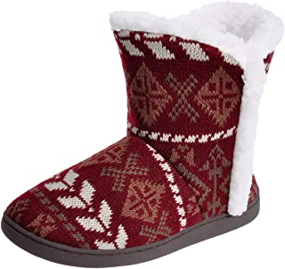 Women Comfort Warm Fluffy Faux Fur Slipper Boots Soft Memory Foam Ankle Booties House Pull on Shoes Anti-Slip Sole Indoor/Outdoor