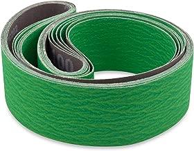 2 X 48 Inch 60 Grit Metal Grinding Ceramic Sanding Belts, Extra Long Life, 6 Pack