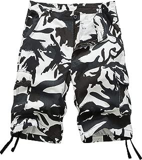 Pinkpum Men's Lightweight Multi Pocket Casual Cargo Shorts
