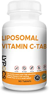 LIPOSOMAL Vitamin C Small Tablets Easy to Swallow, Made in USA, Pure, Vegan – 1000mg Supplements – 90 Tablets – Non-GMO – ...