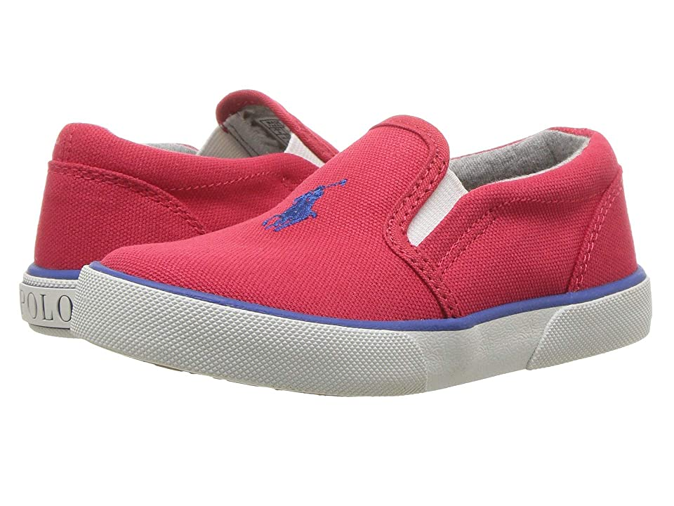 Polo Ralph Lauren Kids Bal Harbour II (Toddler) (Red Canvas/Royal Pony) Kid