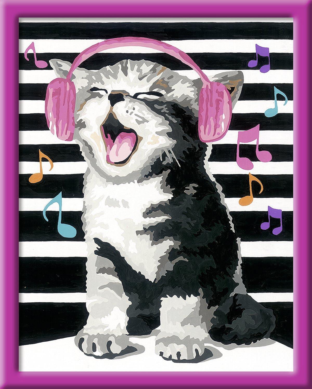 Singing Cat Malen nach Zahlen Serie C  Ohne Rahmen