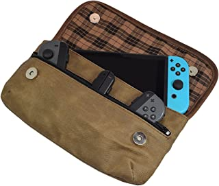 Waxed Canvas Switch compatible for Carrying Case/Urban Travel Pouch/Soft Storage Bag Handmade by Hide & Drink :: Fatigue