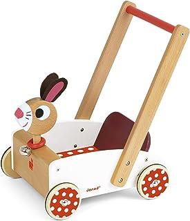comprar comparacion Janod - Crazy Rabbit Andador Carrito de madera (J05997)