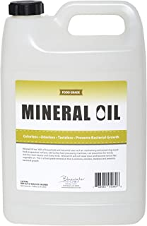 Premium 100% Pure Food Grade Mineral Oil USP, 1 Gallon, Food Safe Butcher Block and Cutting Board Oil, NSF ...
