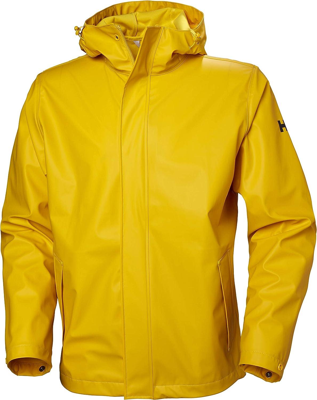 Helly-Hansen mens Moss Hooded Waterproof Windproof Raincoat Jacket