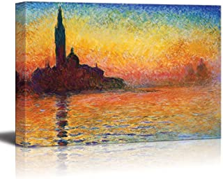 wall26 - San Giorgio Maggiore at Dusk by Claude Monet - Canvas Print Wall Art Famous Oil Painting Reproduction - 16