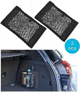 Trunk Storage Net, Wady 2 Pack baúl trasero de coche Back Seat adhesivo elásticos Cargo String Net almacenamiento de malla añadir organisateurs bolsa Pocket Organizer