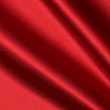 Richlin Fabrics Bridal Satin, Red