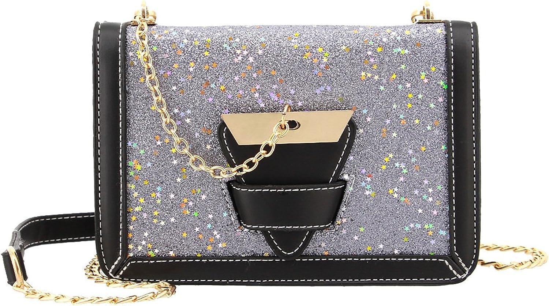 Candice Women Shiny Fashionable Handbag Shoulder Bag Crossbody Bag Purse Evening Bag