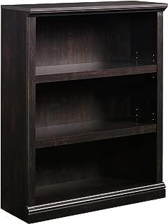 Sauder 3-Shelf Bookcase, Estate Black finish