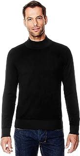 6860147300c2f5 Vincenzo Boretti Pull-Over tricoté pour Homme, Coupe étroite, Classique,  Manche-