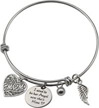 Fairytaly Memorial Family Bracelet I Used to be her Angel Now She's Mine Adjustable Bangle in Memory of Loved One Mom Sympathy Gift Jewelry