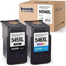 BONINK 2 Compatibles PG-545XL CL-546XL Cartuchos de Tinta para Canon PIXMA MX495 TS3150 TS3151 MG2450 MG2550 MG2550S MG2950 MG3050 MG3051 MG3052 MG3053 TS205 TS305 iP2850 (Negro/Color)
