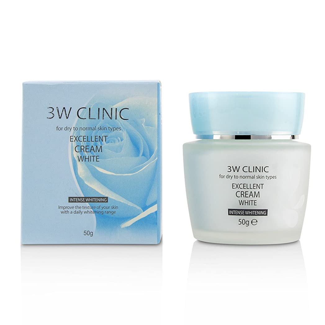 杭作成する試してみる3Wクリニック Excellent White Cream (Intensive Whitening) - For Dry to Normal Skin Types 50g/1.7oz並行輸入品
