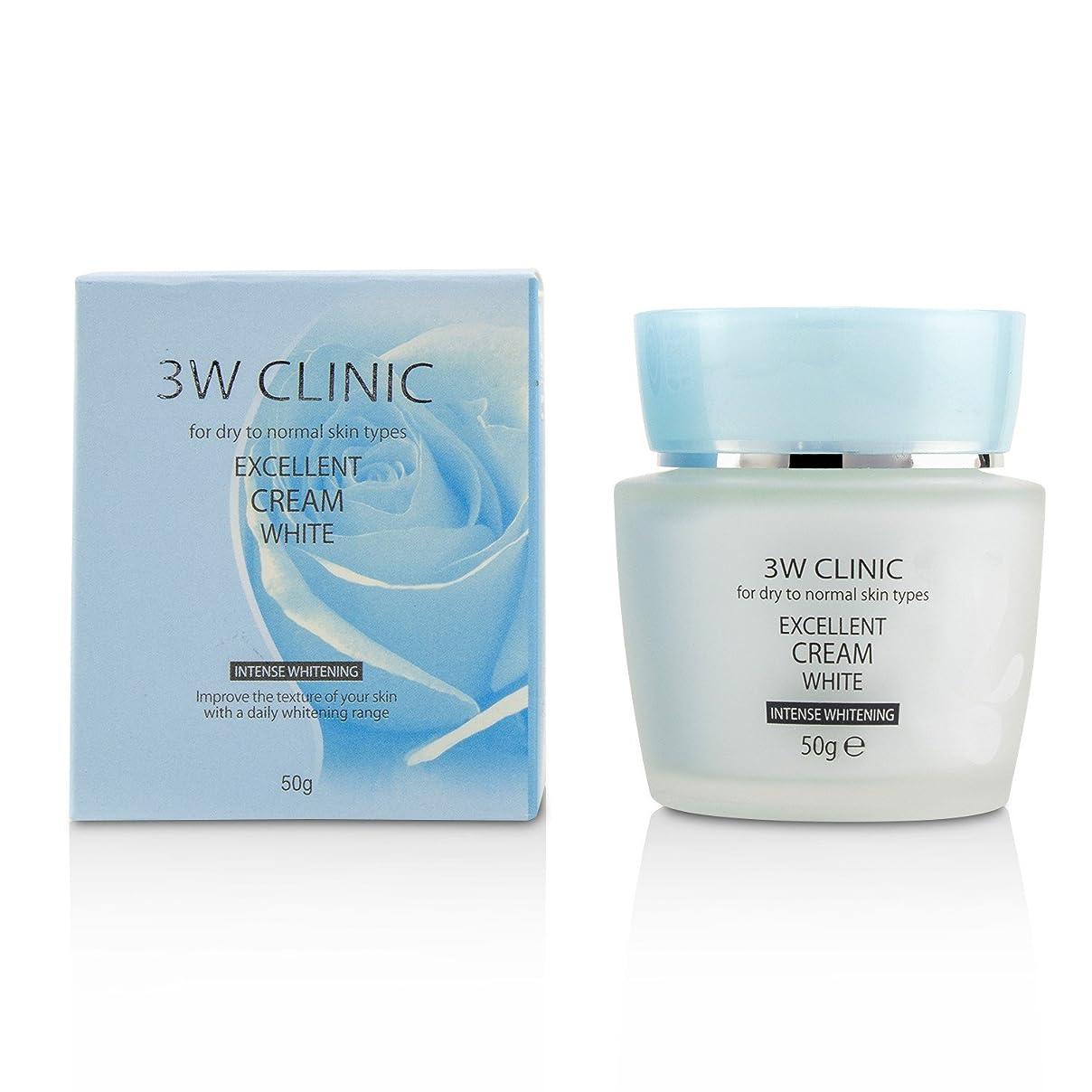 請求可能バンアジア人3Wクリニック Excellent White Cream (Intensive Whitening) - For Dry to Normal Skin Types 50g/1.7oz並行輸入品