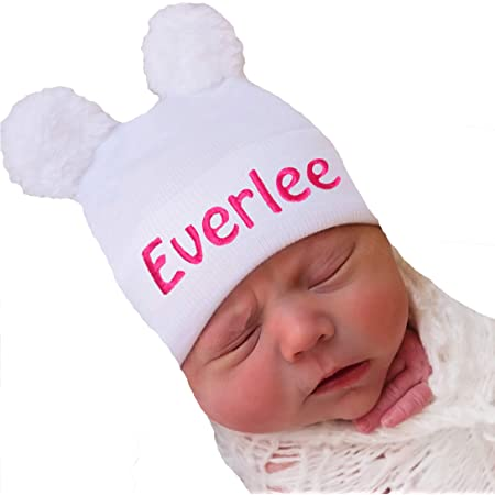 rose newborn set baby hospital hat girl baby hats for girls newborn girl hat with name embroidered baby personalized baby hat